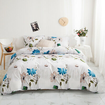 £34.84 • Buy Reversible Printed Duvet Cover Pillowcase Twin Queen King Bedding Sets All Size