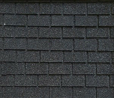 $15.99 • Buy Dollhouse Miniature 1:12 Roofing Black Square Asphalt Shingles