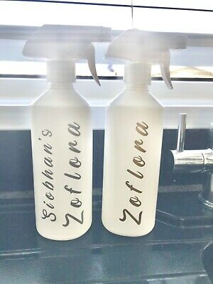 Personalised Refillable Zoflora Spray Bottle Mrs Hinch Cleaning Gift • 4.90£