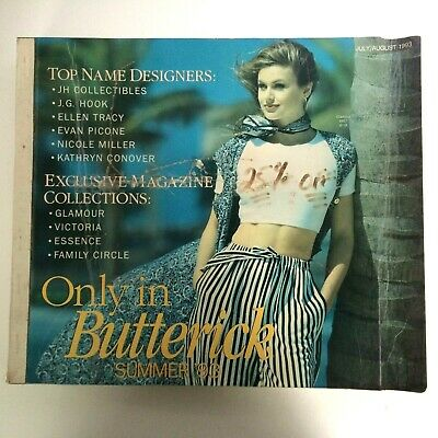 $39.99 • Buy Butterick Sewing Pattern Catalog Big Store Counter Book Large July August 1993