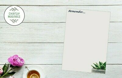 AU4.69 • Buy Succulent Floral Blue Fridge Magnet Whiteboard Family Planner Noticeboard A5