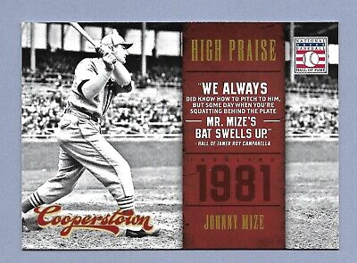 $1.50 • Buy JOHNNY MIZE 2012 Panini Cooperstown High Praise #17