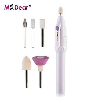 $ CDN30.39 • Buy 5in1 Mini Nail Art Drill Machine Electric Nail Drills Pen Handpiece Bits Mani…