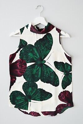 £3 • Buy  CLEARANCE Ex Nxt 6-18 Butterfly High Roll Neck Dip Hem Summer Holiday Top Vest