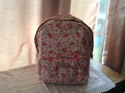 Cath Kidston Ladies Oilcloth Backpack..with Fabric And Canvas Straps • 34.99£