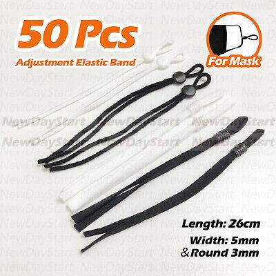 $ CDN13.26 • Buy 50PCS Adjustable Buckle Elastic Band Cord Adjustment For DIY Sewing Face Cover