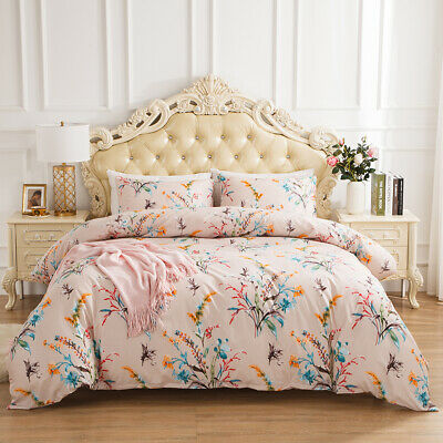£34.15 • Buy Reversible Floral Bedding Sets Duvet Cover Quilt Pillowcase Twin Queen King Size