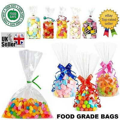 £2.09 • Buy Clear Cellophane Cello Display Bags Large Small Sweets Candy Cake Pop Wrap Party