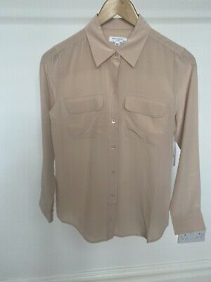 £100 • Buy Equipment Signiture Silk Shirt  - French Nude
