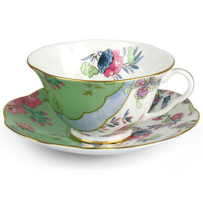 £59.86 • Buy NEW Wedgwood Butterfly Bloom Teacup & Saucer Green