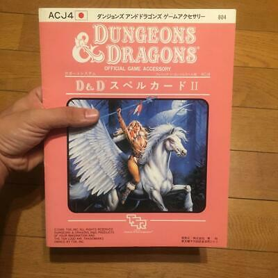 AU255.05 • Buy AD&D Japanese ACJ4 Dungeons And Dragons Cleric Clergy 1-3 Level Spell Cards 1989