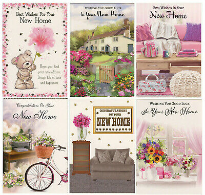 Good Luck In  Your New Home Card 1st P&p Various Designs New Home Cards • 1.95£