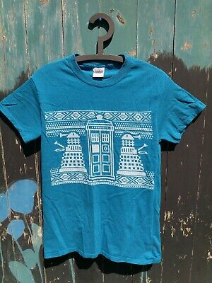 £10 • Buy Doctor Who Ugly Christmas Sweater Jumper T-Shirt Small - TARDIS - Daleks