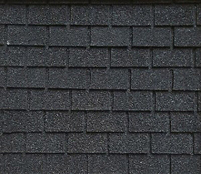 $16.99 • Buy Dollhouse Miniature Roofing Black Square Asphalt Shingles