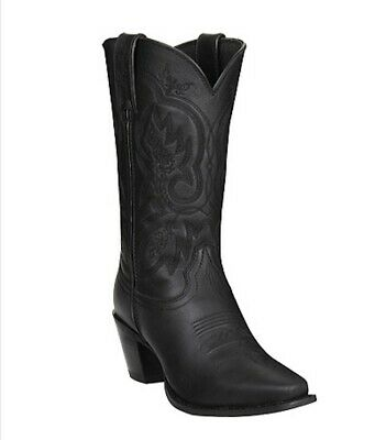 $55 • Buy NIB DURANGO CRUSH Womens 9M/41 Western Cowboy Boots Snip Toe Black Leather