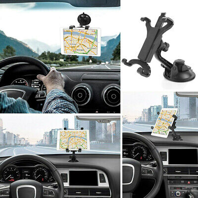 360° Car Windshield Mount Cradle Cup Holder Flat Stand For 7-11 Inch IPad Tablet • 7.31£