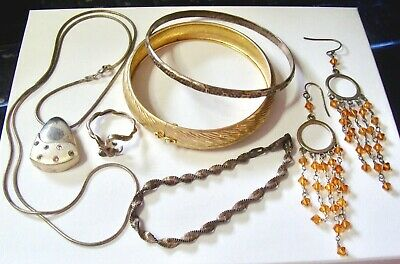 $ CDN55 • Buy Sterling Silver Small Jewelry Lot 50 Grams All Wearable Scrap Or Not
