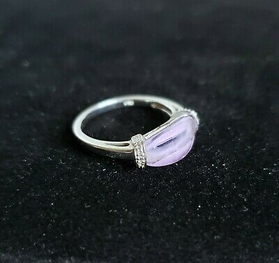 $79.99 • Buy Vintage Lavender Quartz Ring 10k White Gold Size 7 Womens Jewelry