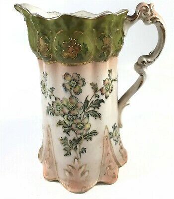 T55 : Antique Pottery. Decorative Jug / Vase Collectable. Victorian Looking • 4.99£