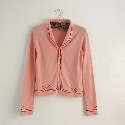 $ CDN58.91 • Buy Vintage Anthropologie HWR Pink Cardigan Sweater Buttons XS/S