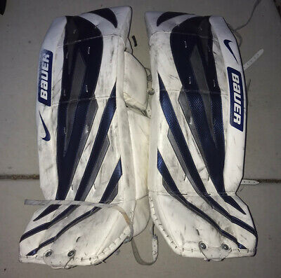 $70 • Buy Nike Bauer One55 Competitive Senior 34  / 86cm Ice Hockey Goalie Leg Pads