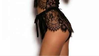 AU30 • Buy Bras N Things Dreamer Luxe French Lace Knickers Black Sizes 14