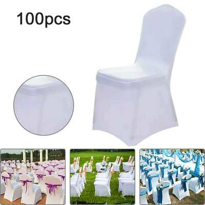 £94.99 • Buy 100X Chair Covers Spandex Cover Wedding Banquet Anniversary Party Decor UK