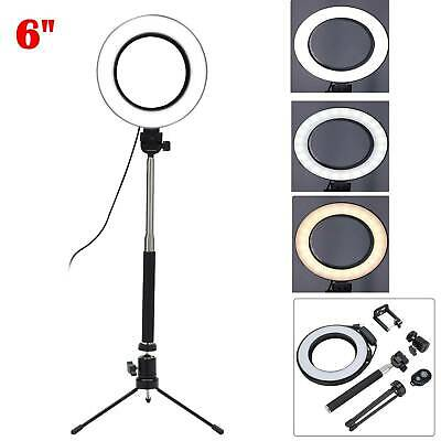 AU52.99 • Buy 6'' Phone Selfie LED Ring Light With Stand Tripod For Youtube Tiktok Makeup Live