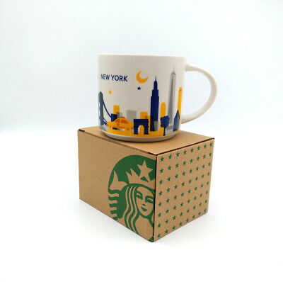 414ml StarBK City Coffee Mug Cup YAH New York In Box You Are Here Collection • 20.99£