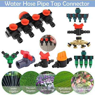 Garden Irrigation Watering System Connectors Tap Hose Pipe Drip Splitter Adapter • 3.78£