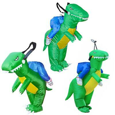 £19.79 • Buy 3D Halloween Inflatable Riding Dinosaur Costume Party Stage Cosplay Suit 3 Size