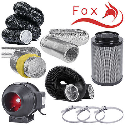 5  Twin Speed Extraction Fan Filter Kits Aluminium Acoustic Black Acoustic Combi • 83.99£