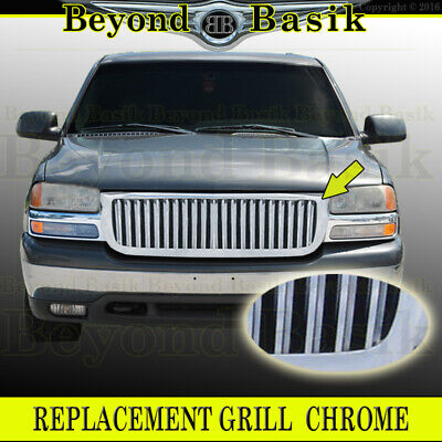 $249 • Buy 2003-2006 GMC Sierra 15000 2000-2006 Yukon Blade Style Triple CHROME Grill