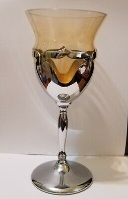 $11 • Buy Farber Bros CAMBRIDGE Krome Kraft Amber Wine Glass / Cordials