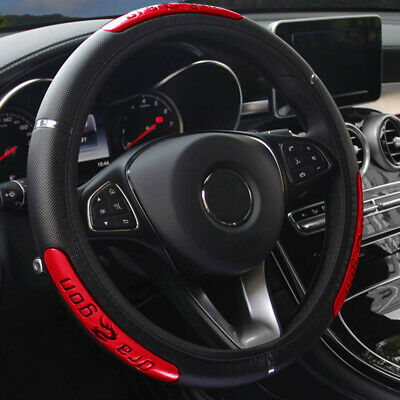 AU9.50 • Buy 15inch/38cm PU Leather Car Steering Wheel Cover Anti-slip Protector Accessories