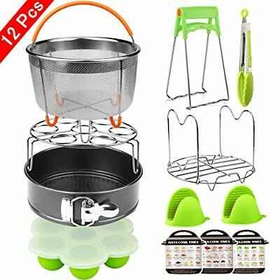 $35.22 • Buy 12 Pieces Instant Pot Accessories Set Fits 6 To 8 Quart Cooker W/ Steamer Basket