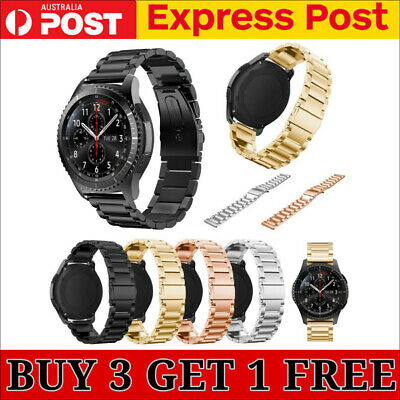 AU13.95 • Buy Stainless Steel Strap Metal Watch Band For Samsung Galaxy Watch 42/46mm Gear S3
