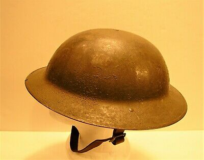 WW1 British Army 1917 ' Brodie '  Steel Helmet Mark I Complete And Superb • 395£
