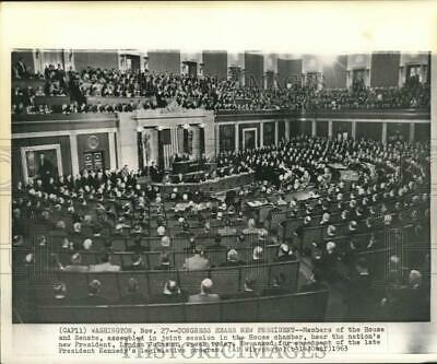 $33.88 • Buy 1963 Press Photo U.S. Congress Joint Session In House Chamber, Washington