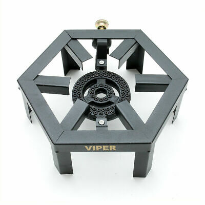 £24.99 • Buy Viper Lpg Gas Burner Cooker Cast Iron Boiling Ring Camping Catering Heavy Hex S