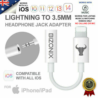 AU5.99 • Buy IPhone To 3.5mm AUX Headphone Audio Jack Adapter Cable IPhone 7 8 X XR 11 12 Max