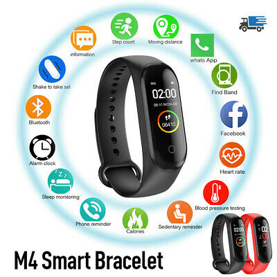 $ CDN8.38 • Buy M4 GLOBAL VERSION Bluetooth 4.0 Smart Watch Wristband MI Band 4 Heart Rate