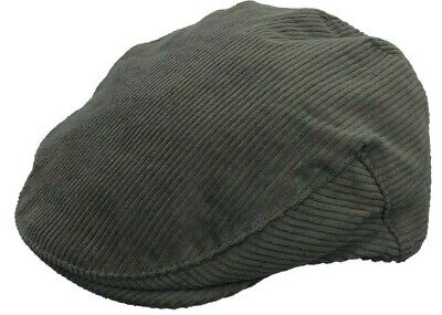 Brand New Men's Olive Green Cord Country Fashion Flat Cap • 9.99£