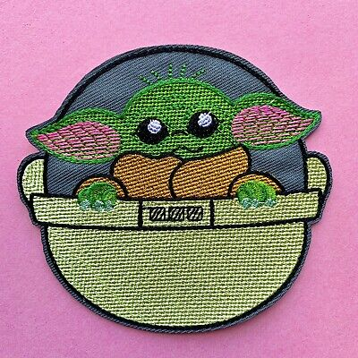Mandalorian The Child Yoda Star Wars Embroidered AppliquÉ Patch Sew Or Iron On • 2.80£