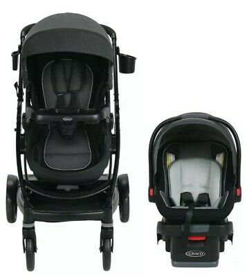 Graco Baby UNO2DUO Travel System Stroller W/ SnugLock 35 Infant Car Seat Ace NEW • 288.38£