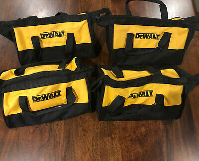 $10.50 • Buy Four (4) Small Dewalt Heavy Duty Canvas Tool Bags 11x9x7 Lot Combo Father's Gift