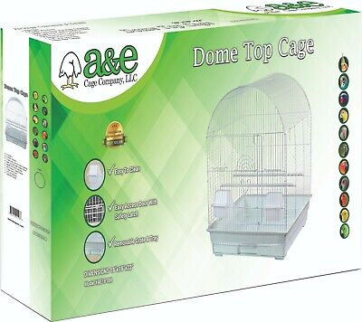 $89 • Buy #ae1818rwhsp White Round Top Bird Cage 18  X 18  X 22  Great For Cockatiels!