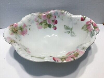 $8.99 • Buy Hand Painted J & C Louise Pink Flowers Bavaria Germany Bowl Romantic Country VTG