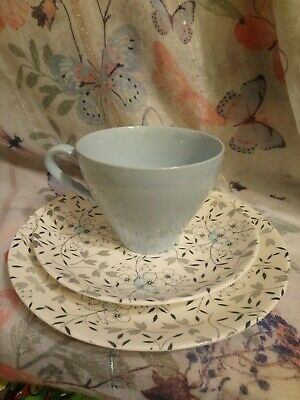 £12.15 • Buy Retro J&G Meakin Trio Sol Pattern Vintage Pretty  Cup  Saucer And Side Plate  56