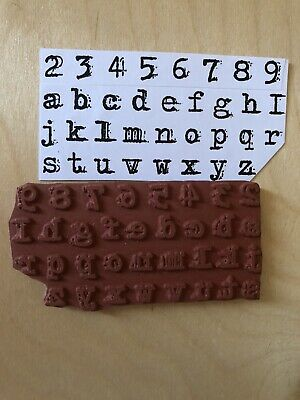 Alphabet Background Stamp. Cling Foam Mounted. New • 3.99£
